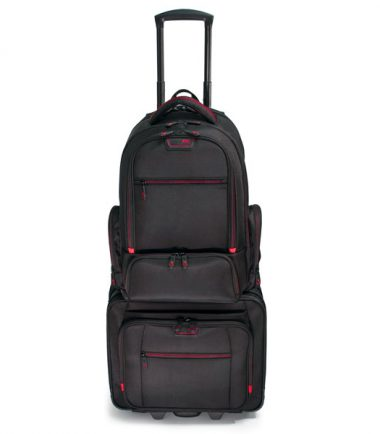 Professional Backpack and Rolling Case Combo -19315