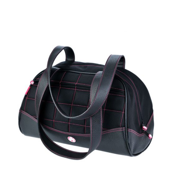 Sumo Duffel - Black with Pink Stitching - Small-0