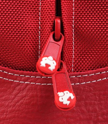 Sumo Duffel - Red with White Stitching - Small - Padded Zipper Pulls