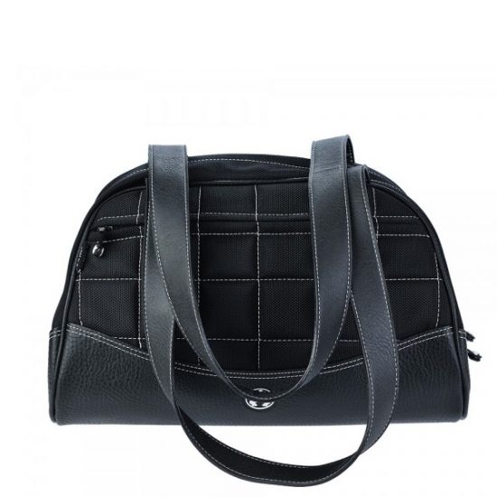 Sumo Duffel - Black with White Stitching - Large-0