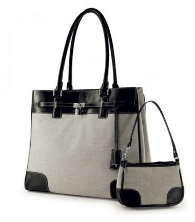 Madison Matching Clutch - Taupe / Black-20867