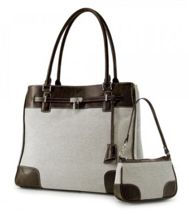 Madison Matching Clutch - Taupe / Chocolate-20870