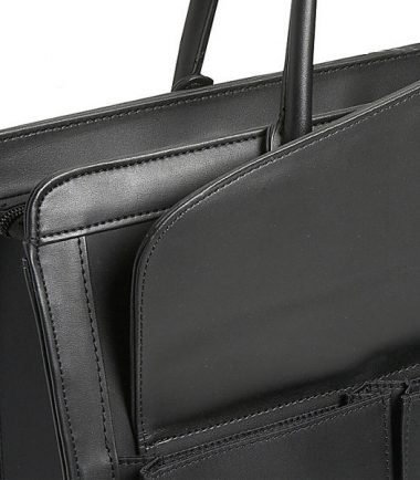 Geneva - MicroFiber (Large) Laptop Tote - MicroFiber exterior is complimented with leather trim