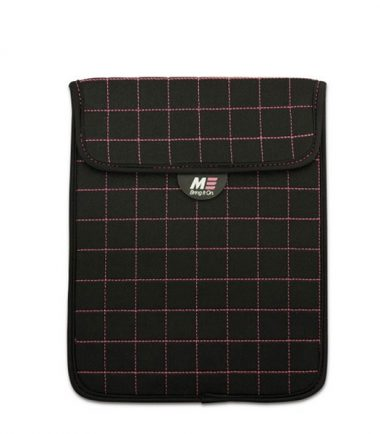 NeoGrid Tablet Sleeve (Black with Pink Stitching)-0