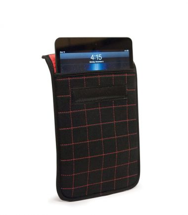"""NeoGrid iPad Mini 7"""" Tablet Sleeve (Black with Red Stitching)-19891"""