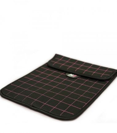 NeoGrid Tablet Sleeve (Black with Pink Stitching)-19896