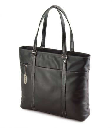 Ultra Tote - Black Leather (Laptop Bag) - 15 inch to 17 inch screens