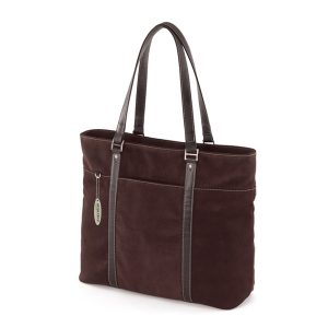 Ultra Tote - Chocolate Suede - Perfect for notebooks with 15 to 17.3 inch screens