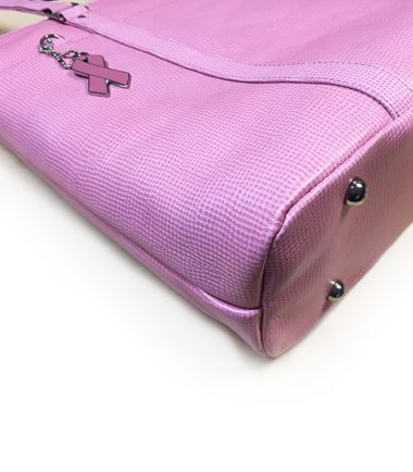 Pink Leather Laptop Tote-22664
