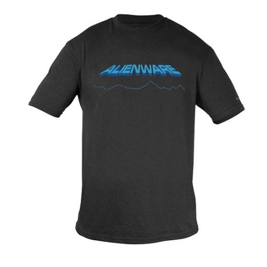 Alienware Space-Age Alienware Font Gaming Gear tri-blend T-shirt-0