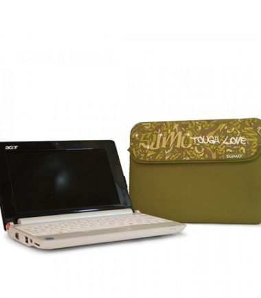 Sumo Graffiti Sleeve - 15 inch (Laptop Bag) - Pink - Shown with Laptop