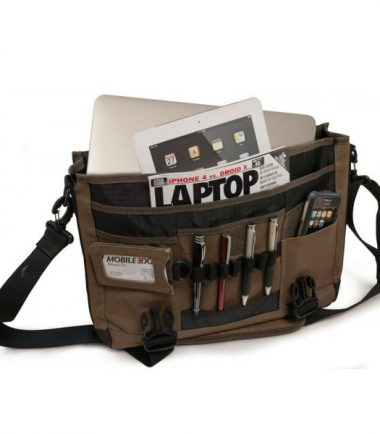 Eco-Friendly Laptop Messenger - Front Workstation Includes Space for Pens, Mobile Phone and Miscellaneous Items