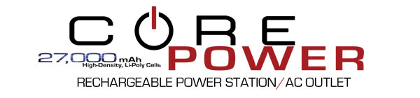 Core Power 27,000mAh Rechargeable Power Station/AC Outlet