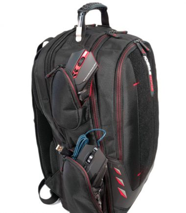 """Core Gaming Backpack w/Velcro Panel 17.3""""-22873"""
