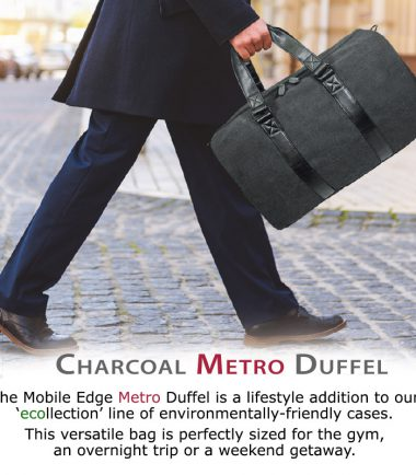 The Mobile Edge Charcoal ECO Duffel lifestyle