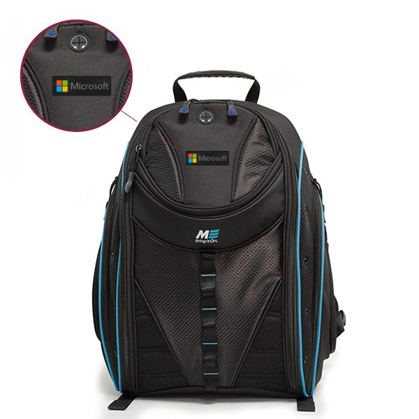 Mobile Edge Express Backpack - Sample Logo - Rubber Patch