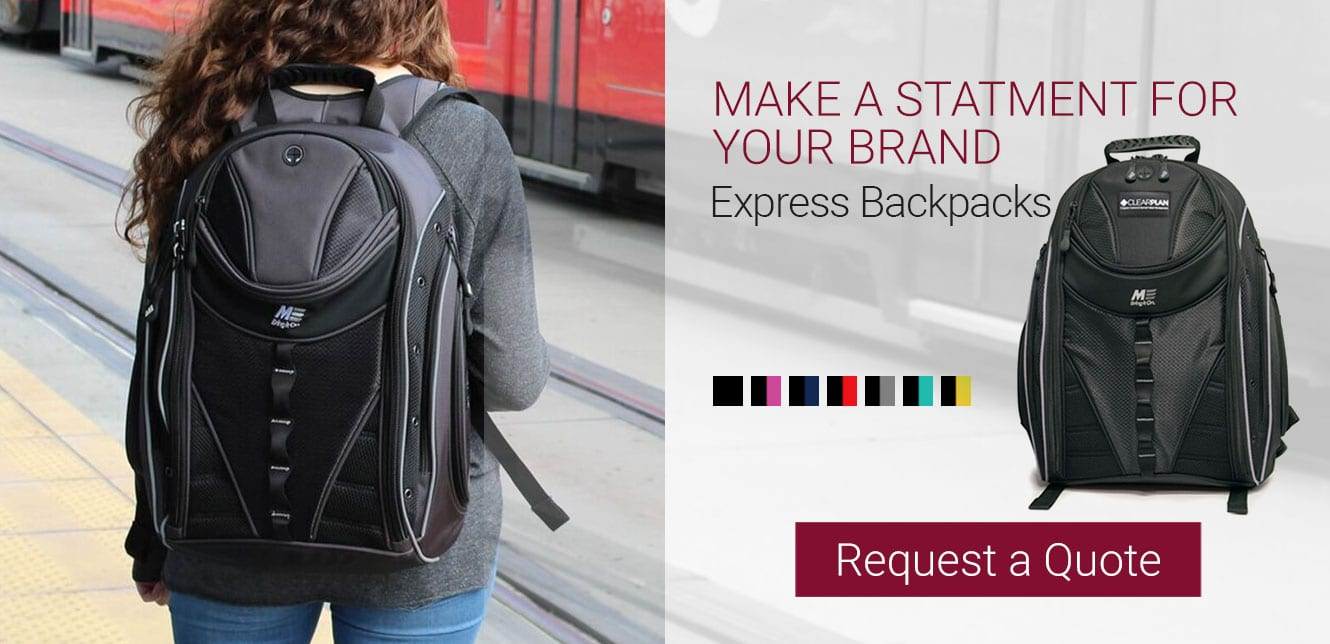 Request a Quote to customize your logo on Mobile Edge Express Backpacks
