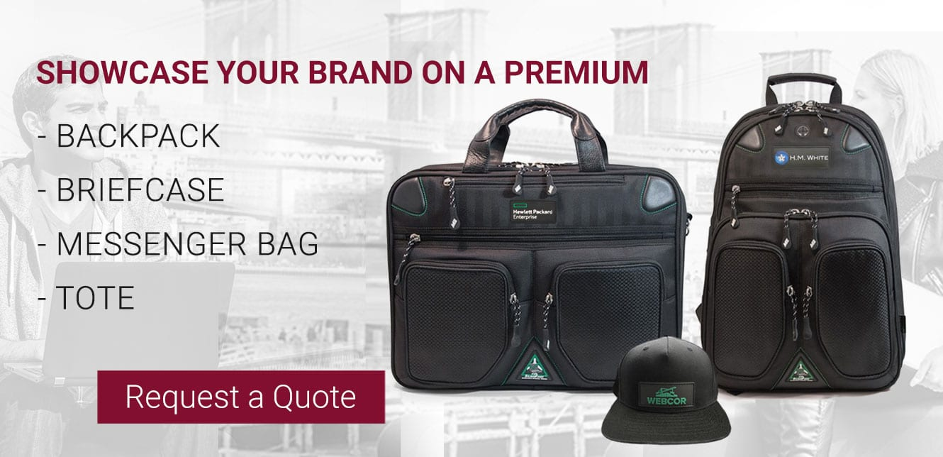 Request a Quote to customize your logo on Mobile Edge promotional laptop bags